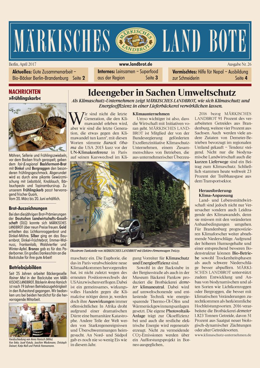 12ade06d53b10b Randvoll mit Neuigkeiten aus unserer Backstube und dem ökologischen  Landbau